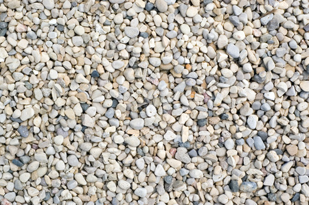 Small rock gravel close-up background picture. Stock Photo