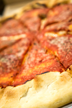 Deepdish Pizza. Copyright � Paul Velgos with All Rights Reserved. Stock Photo