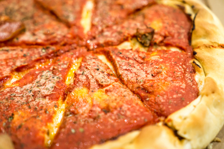 Deep Dish Pizza. Copyright © Paul Velgos with All Rights Reserved.