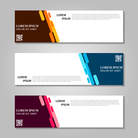 Vector abstract design banner template illustration.