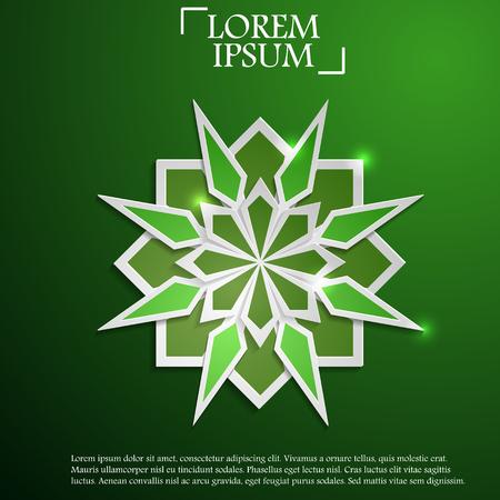 Paper graphic of Islamic geometric art decoration.