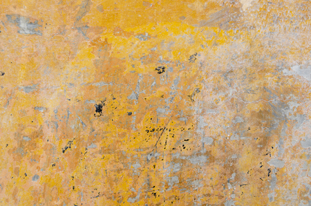 Yellow color old concrete background