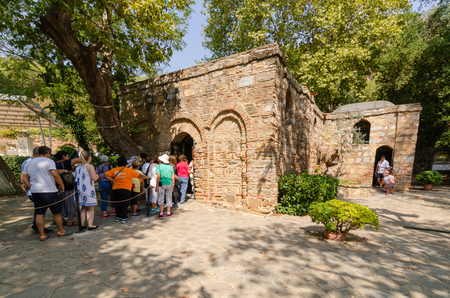 Ephesus,Izmır,TURKEY-August 19,2018:The House of the Virgin Mary (to be the last residence of Mary, mother of Jesus). Visited by tourists.