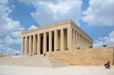 Ankara, Turkey-July 03,2016: Anitkabir - The Mausoleum of Ataturk. People visit to convey respect and love.