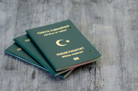 Passport canceled by the authorities. It was staples. Stok Fotoğraf