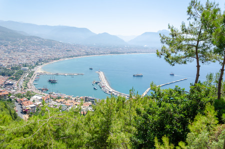 Alanya,Turkey-June 25,2019:View from the Alanya Castle  to the city of Alanya (Turkey) Éditoriale
