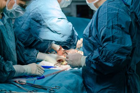 The surgeon is operating carefully and concentrically.
