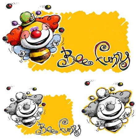 Een ruw ontworpen Clawn Bee