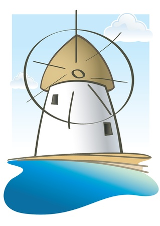 greek islands: A clean-cut vector design inspired by the Greek islands scenery