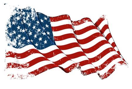 ville usa: USA drapeau