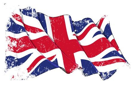 bandera uk: Gran bandera de Gran Bretaña Vectores