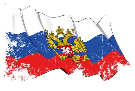russian flag: Russia flag Illustration