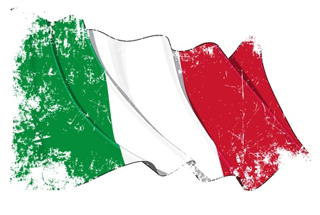 italien flagge: Italien-Flagge Illustration
