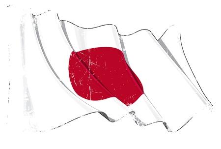 Japan flag Stock Vector - 14306284