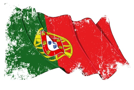 drapeau portugal: Portugal flag Illustration