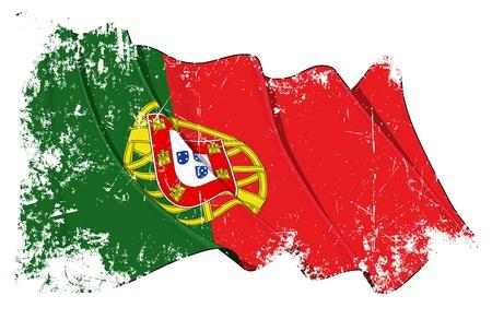 portugal flag: Portugal flag Illustration