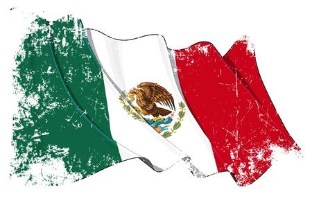 mexico city: Mexico flag