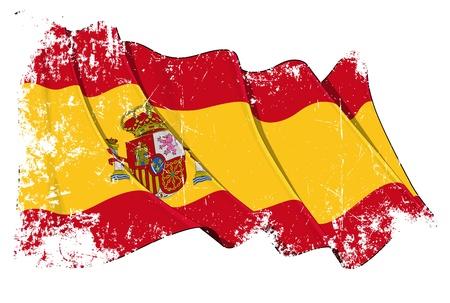 Spanien Flagge Illustration