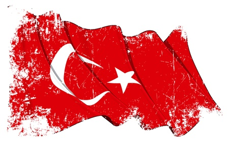 turkish flag: Turkey flag Illustration