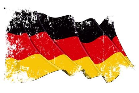 germany flag: Grange National Flag of Germany Stock Photo