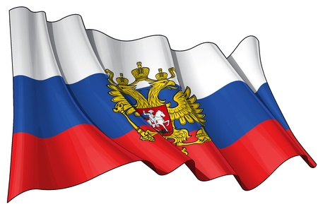 russia flag: Waving Russian Flag, 6800 x 4500 pxl with clipping path top quality jpg