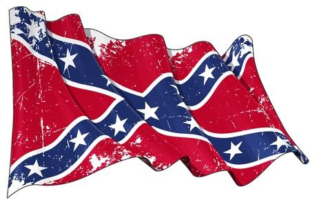 Confederate Rebel flag Scratched