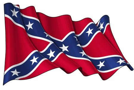 gente saludando: Bandera rebelde confederado