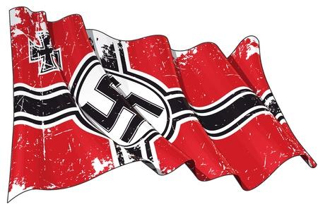 ensign: German War Ensign 1938-1945 Flag Scratched