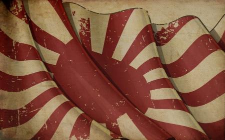 bitmap: Japan s Naval Ensign Old Paper