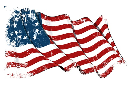 ベッツィー ・ ロスの米国旗グランジ 写真素材