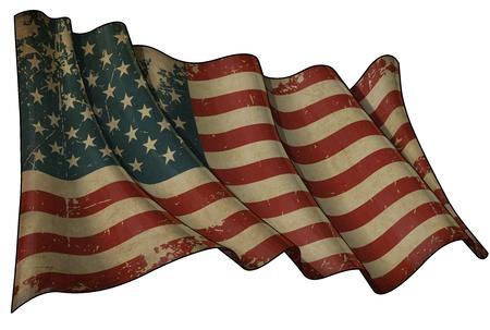 USA Historic flag Imagens