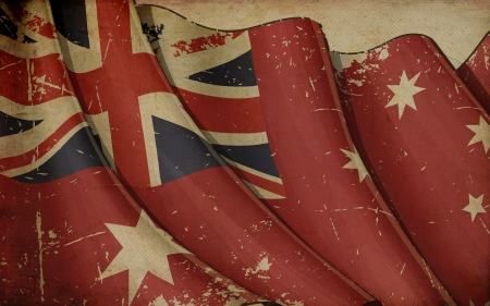 chorąży: Australia Red Ensign Old Paper