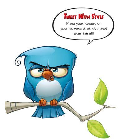 Tweeter Blue Bird Strict Stock Photo - 15803216