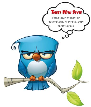 Tweeter Blue Bird Flat Stock Photo - 15803221