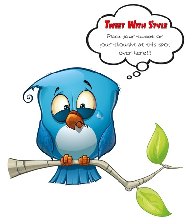 Tweeter Blue Bird Emotional Stock Photo - 15803218