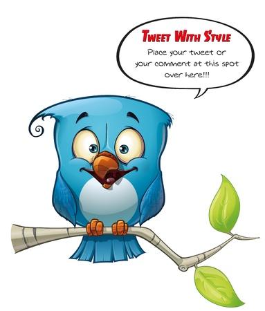 tweeter: Tweeter Blue Bird Happy