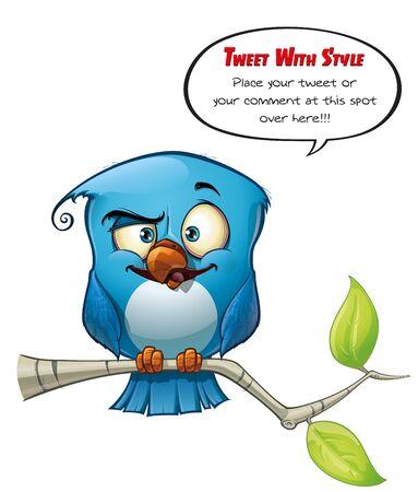 Tweeter Blue Bird Smarty Stock Photo - 15803217