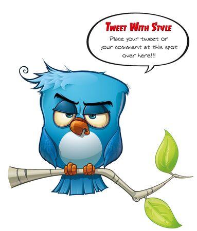frown: Tweeter Blue Bird Sharp Stock Photo