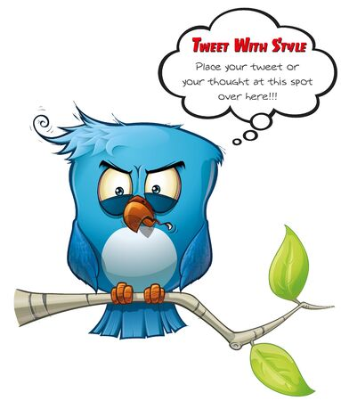 Oiseau bleu Tweeter vicieux