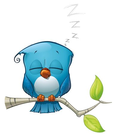 sleepy woman: Tweeter Blue Bird Sleeping