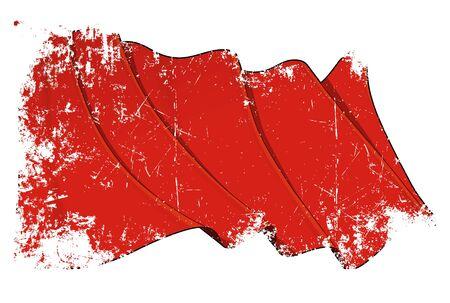 socialism: Red Flag Grunge Stock Photo
