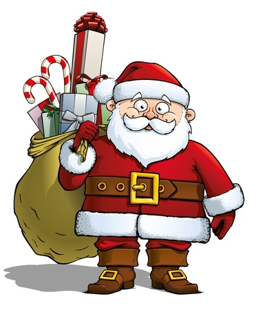 Santa Holding a Gift Sack Stock Photo - 16568263