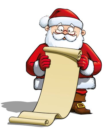Santa Holding a Gift List Stock Photo - 16568262