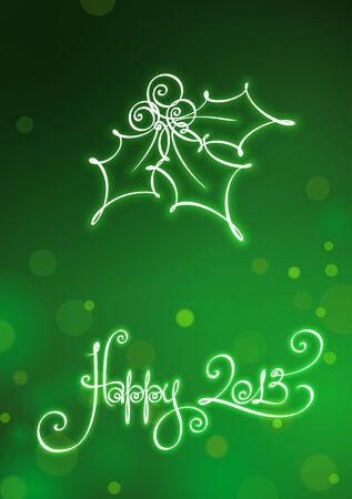 Happy 2013 Card, EPS v10 file has red, blue and green versions in separate layers Stock Vector - 16691175