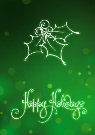 winterberry: Happy Holidays Card  EPS v10 file has red, blue and green versions in separate layers