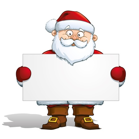 Santa Holding a Label Stock Vector - 16879831