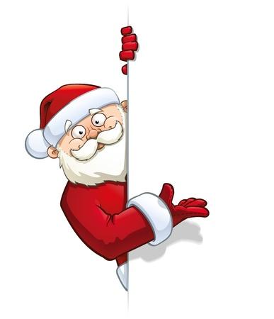 Santa Pointing at a Label Stock Vector - 16879860