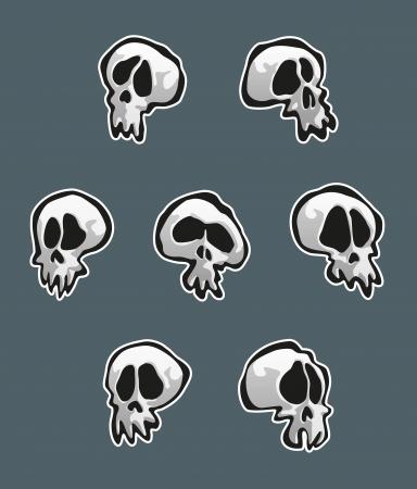 Seven Skulls Stock Vector - 17149526