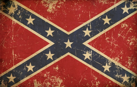 confederate: Stars and Bars Stock Photo