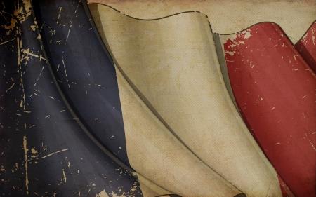 Französisch Flag Old Paper